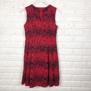 TOMMY HILFIGER floral sleeveless fit & flare dress